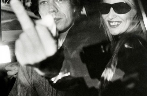 Mick and Jade Jagger phot Ron Galella