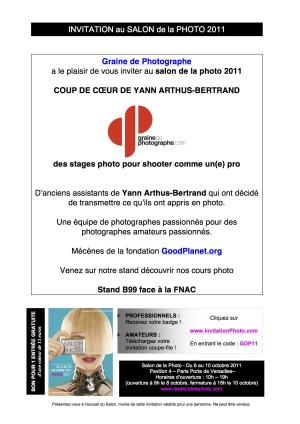 Invitation Salon de la Photo 2011 GRAINE DE PHOTOGRAPHE