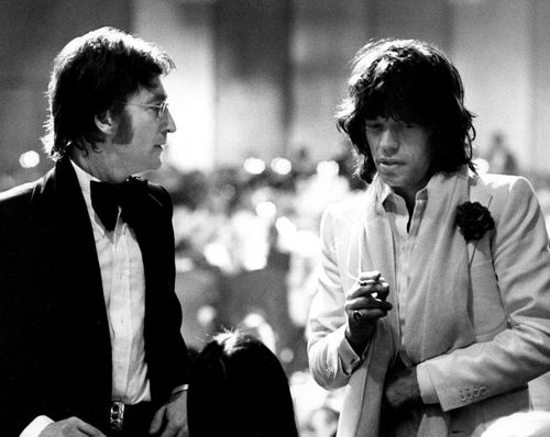 John Lennon & Mick Jagger photo Ron Galella