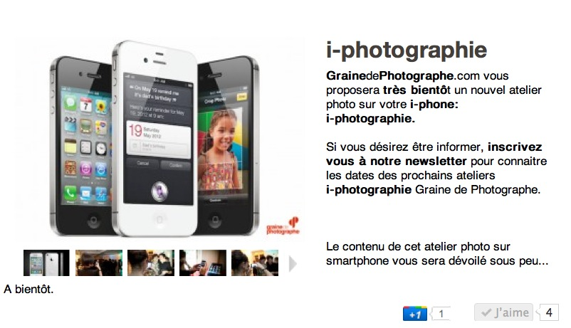 Atelier photo Graine de Photographe i-photographie