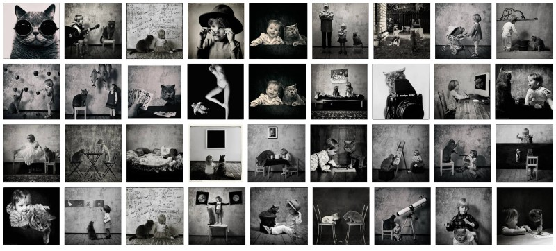 A girl and a cat photos by Andy Prokh