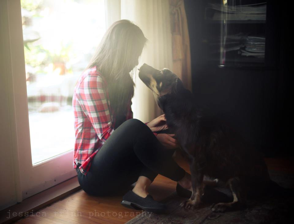 Jessica et son chien - Photo : Jessica Trinh