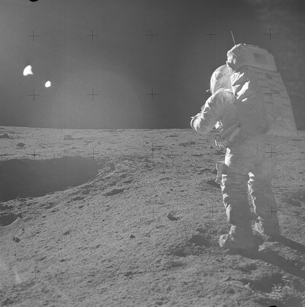 Apollo 14 - Pilote du module lunaire : Edgar Mitchell - Photo : NASA