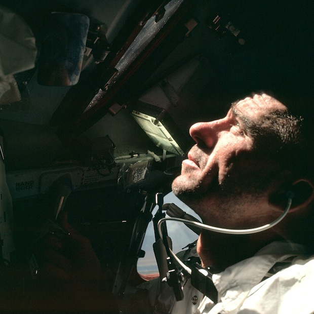 Apollo 7 - l'astronaute Wally Schirra - Photo : NASA