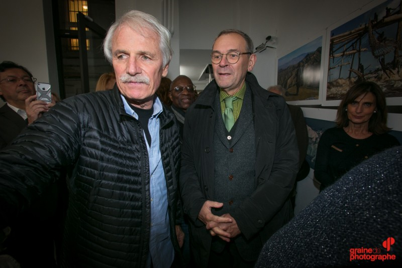Yann Arthus Bertrand et Jean-Jacques Aillagon