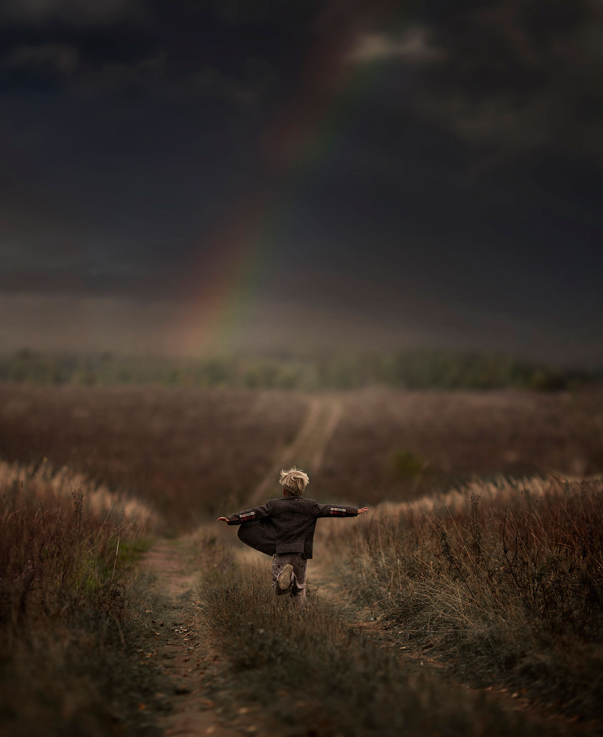 Photo Elena Shumilova - enfant arc-en-ciel