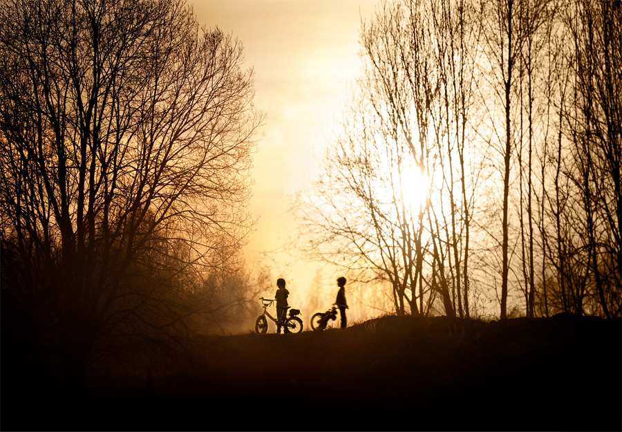 Photo Elena Shumilova - enfants vélos