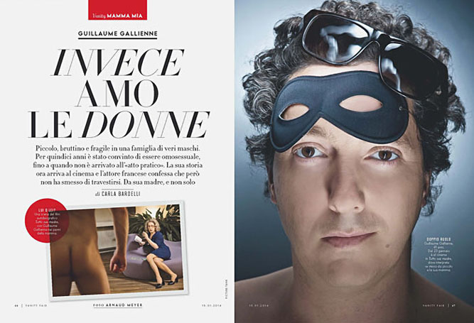 Guillaume Gallienne, Vanity Fair Italy - Arnaud Meyer ©