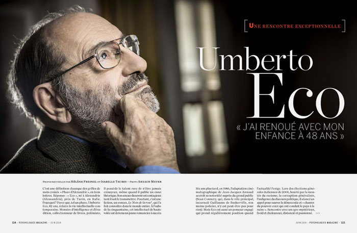 Umberto Eco, Psychologies Magazine - Arnaud Meyer ©