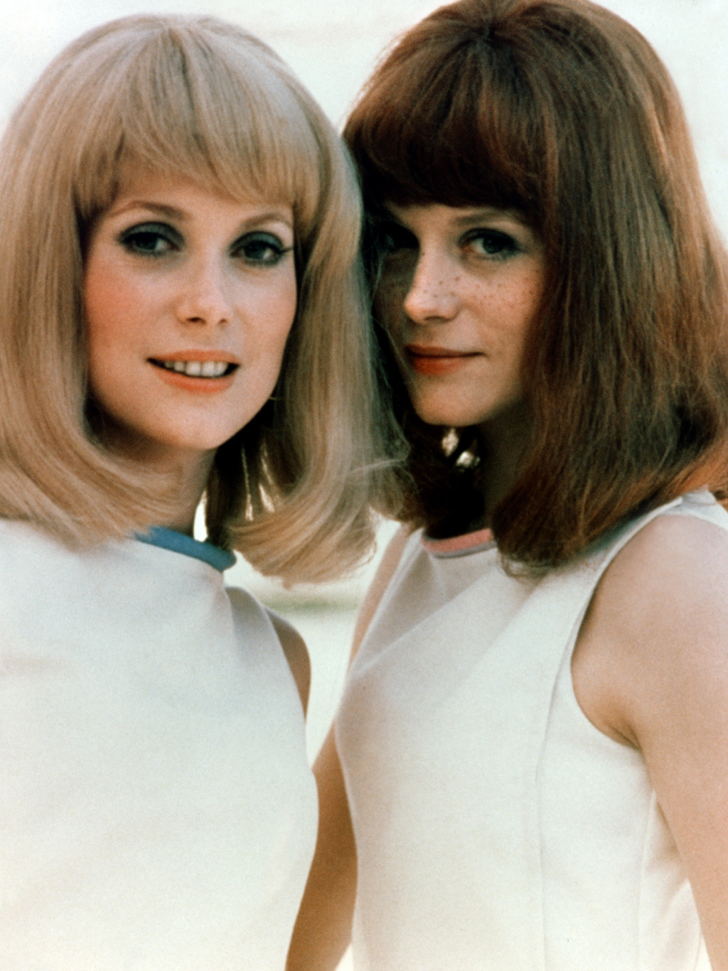 "Photo: Catherine Deneuve, Françoise Dorléac, ""Les Demoiselles de Rochefort"", 1966. T.C.D. - Visual Press Agency ©"