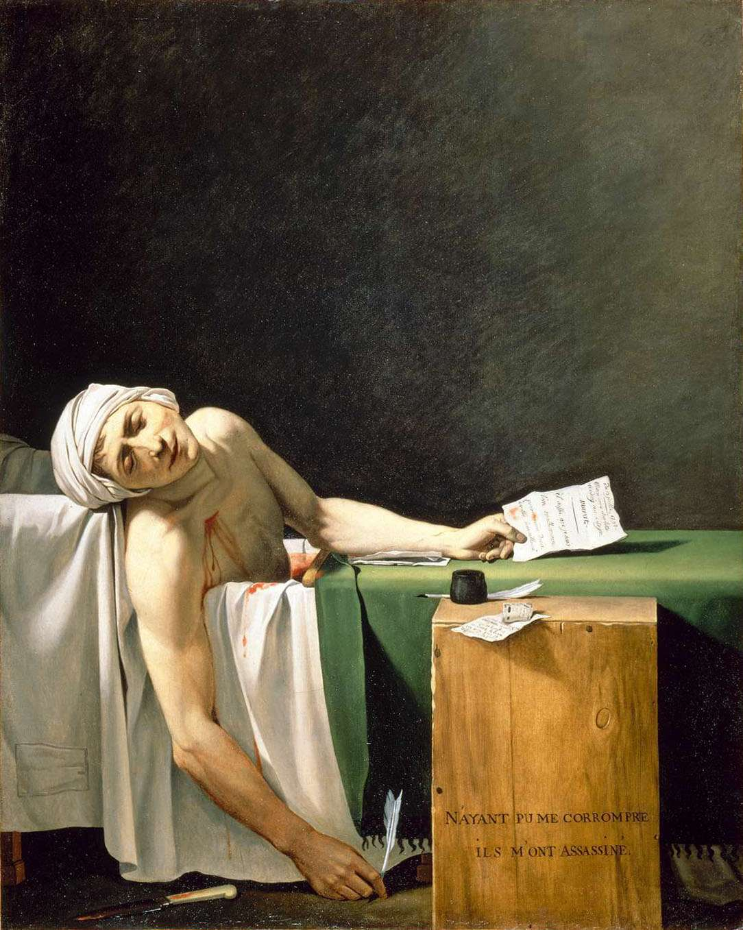 La mort de Marat - Jacques-Louis David
