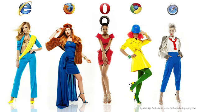 What if girls were internet browsers? Photo : Viktorija Pashuta
