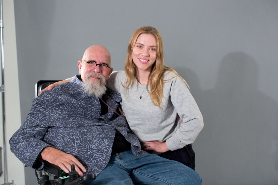 Chuck Close et Scarlett Johansson Photo : Myrna Suarez
