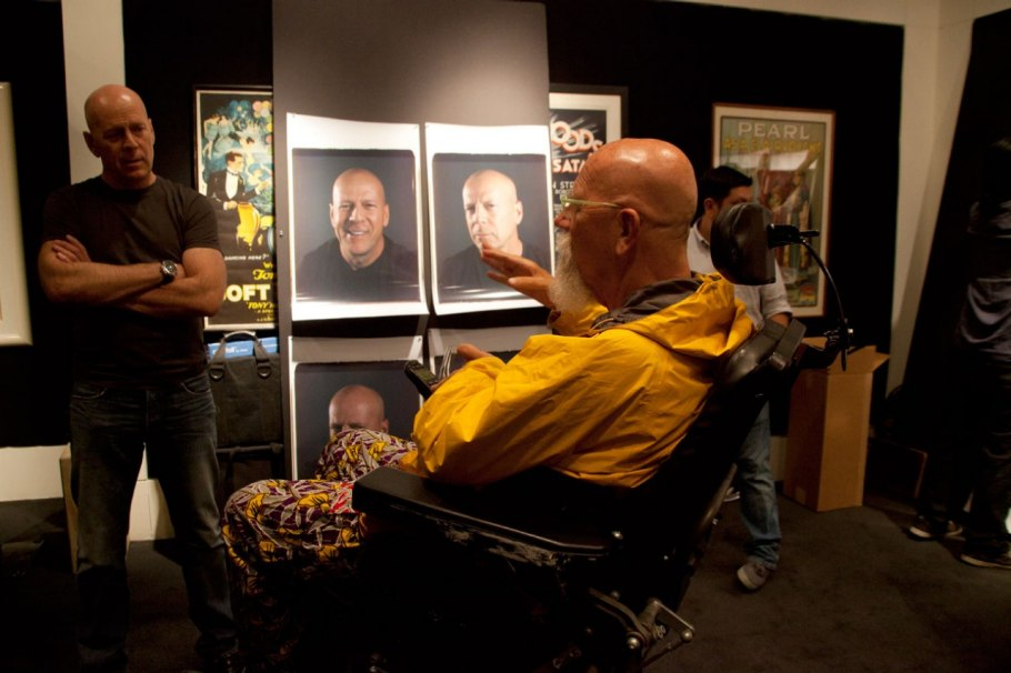 Chuck Close et Bruce Willis Photo : Myrna Suarez