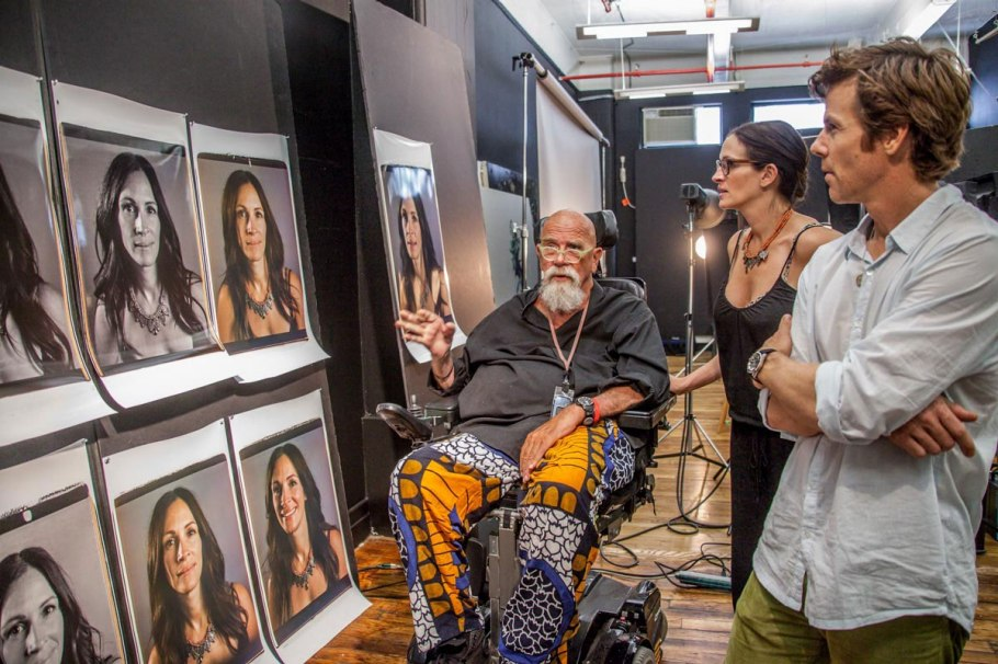 Chuck Close et Julia Roberts Photo : Myrna Suarez
