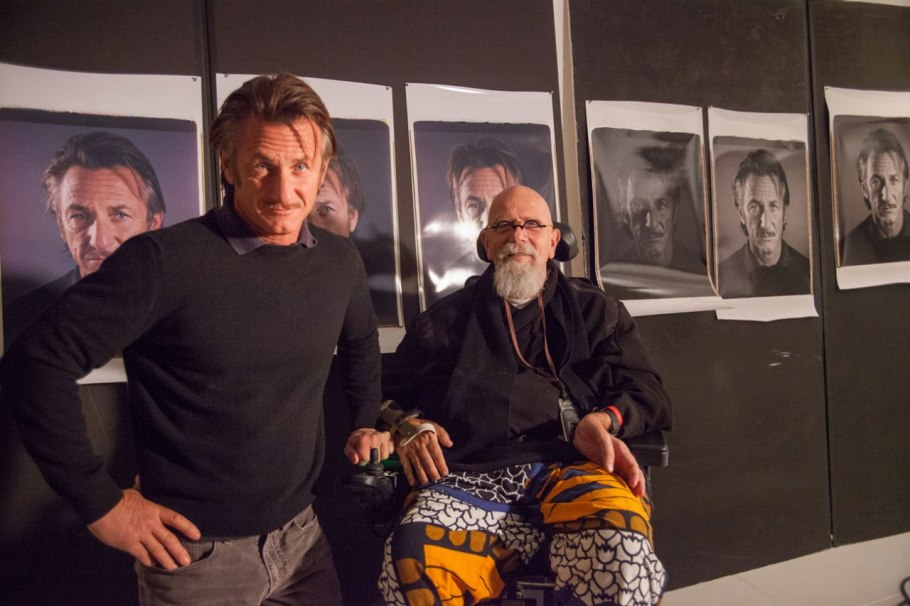 Chuck Close et Sean Penn Photo : Myrna Suarez
