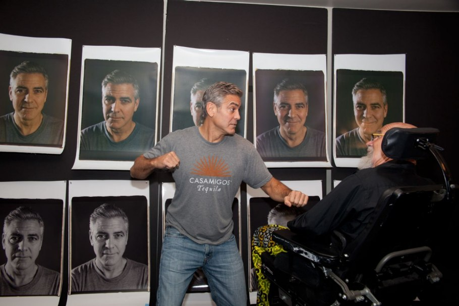 Chuck Close et George Clooney Photo : Myrna Suarez