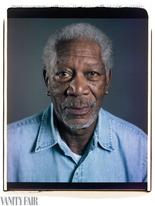 Morgan Freeman Photo : Chuck Close