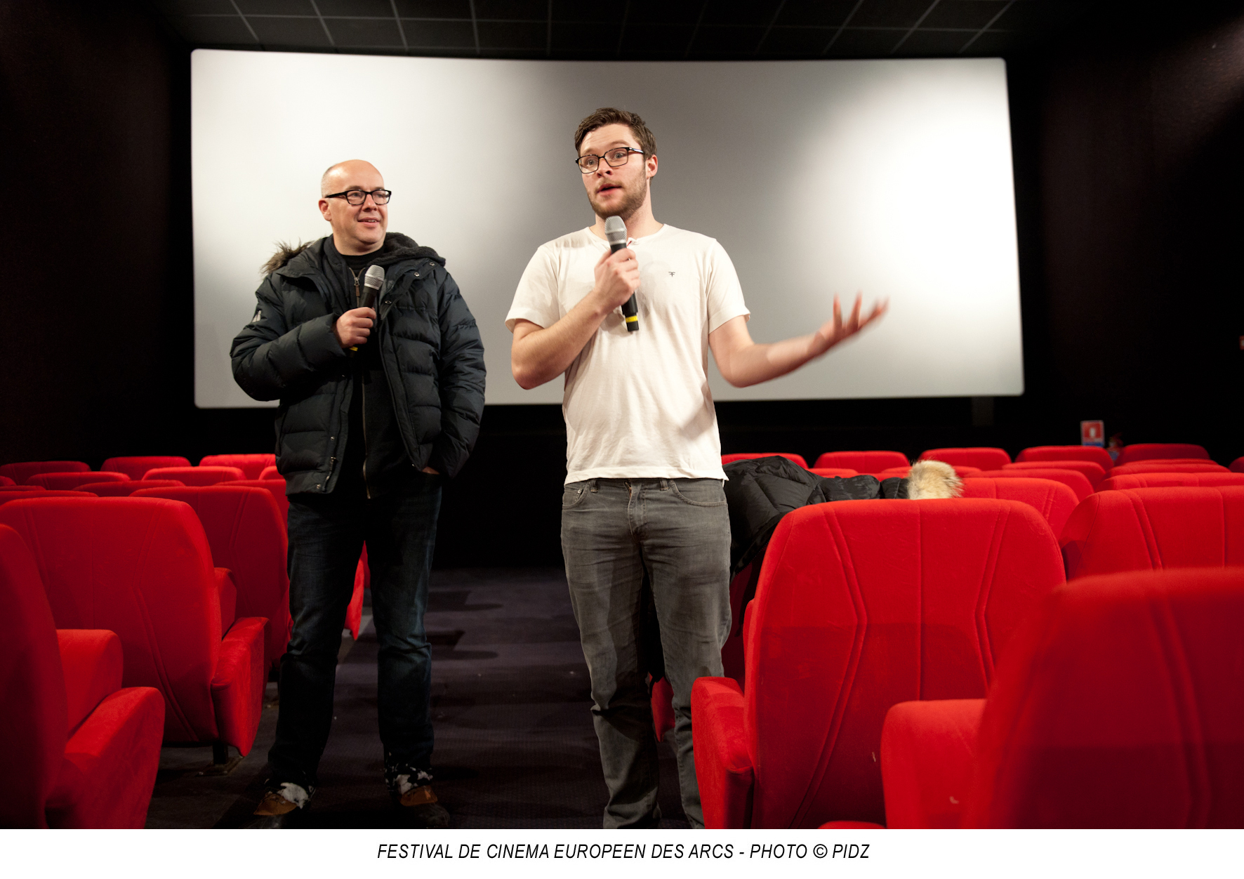 Arc 1800. Jack REYNOR, comédien et membre du jury répond aux questions des spectateurs à l'issue de la projection du film « Dollhouse ». - Photo : PIDZ