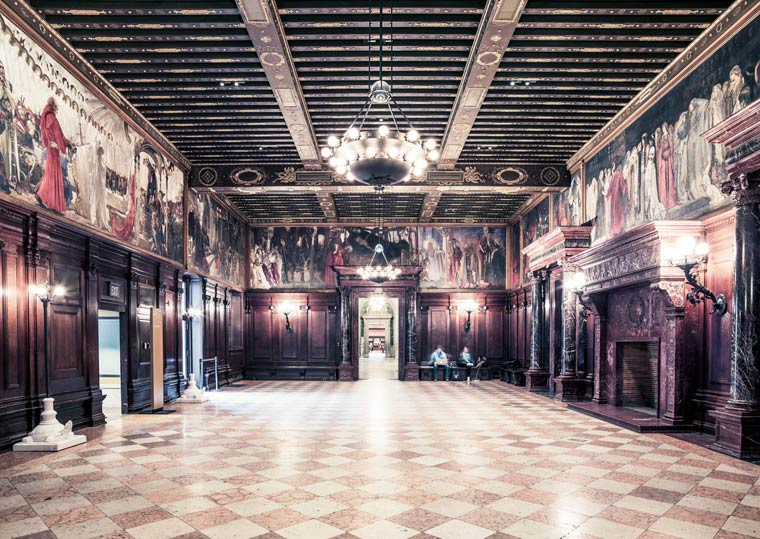Boston Public Library à Boston - Photo : Franck Bohbot