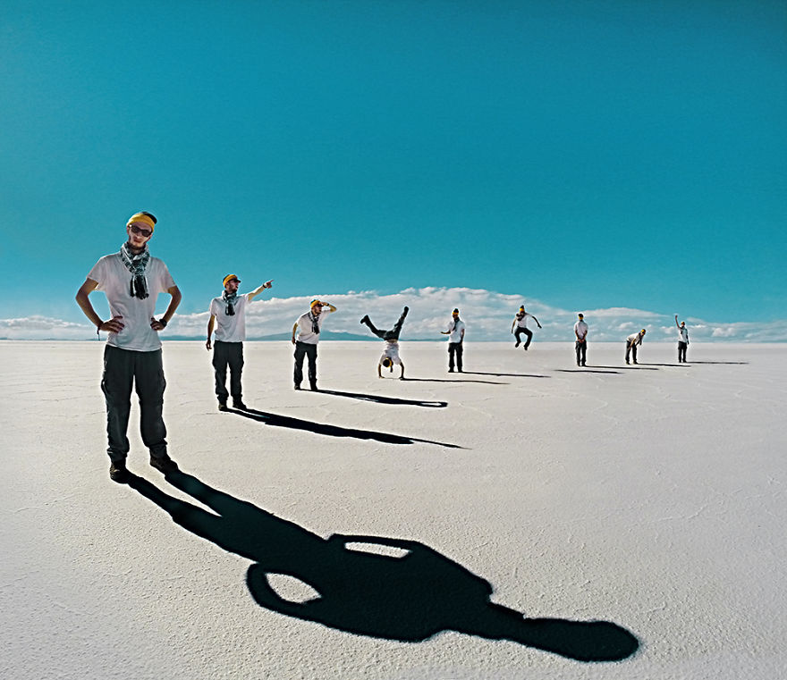 Salt Flats with a Bunch of Idiots - Photo : Ari Fararooy
