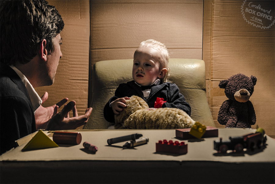 The Toddlerfather Film : The Godfather Photo : Lilly & Leon Mackie