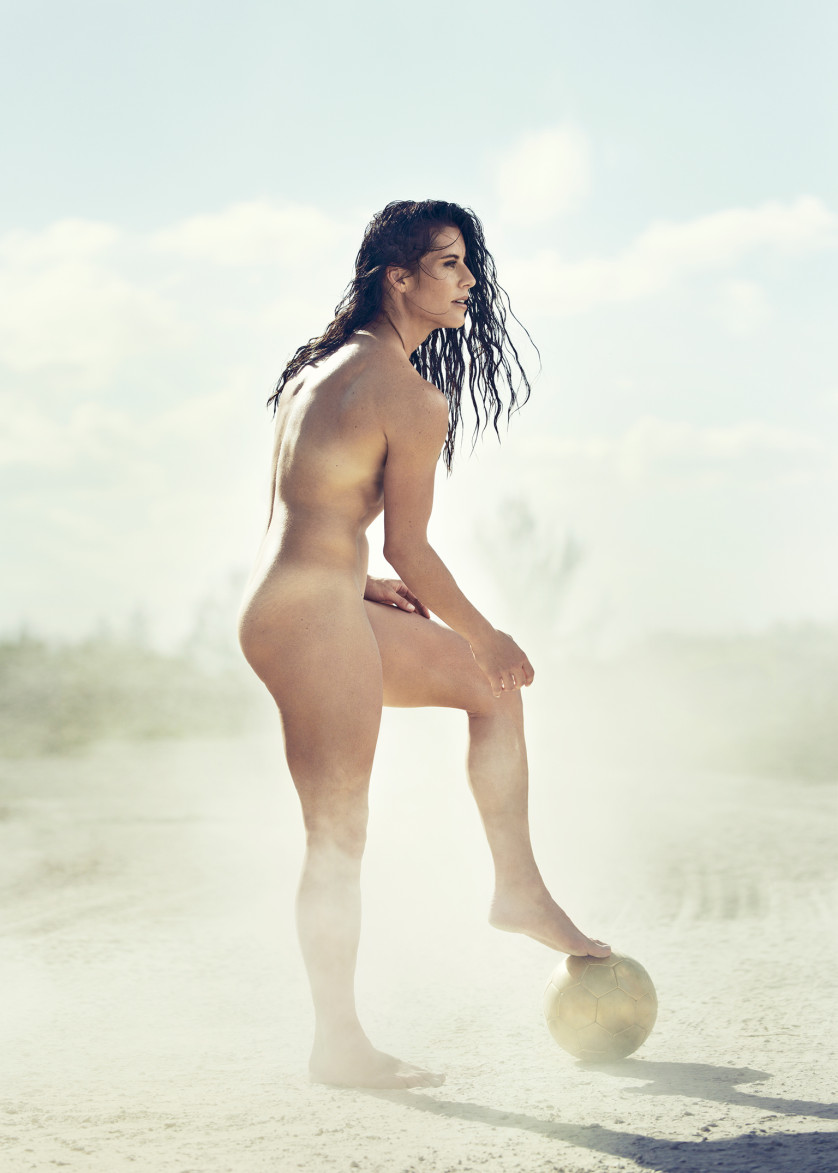Ali Kreiger - joueuse de soccer féminin - USA  Photo : ESPN The Magazine