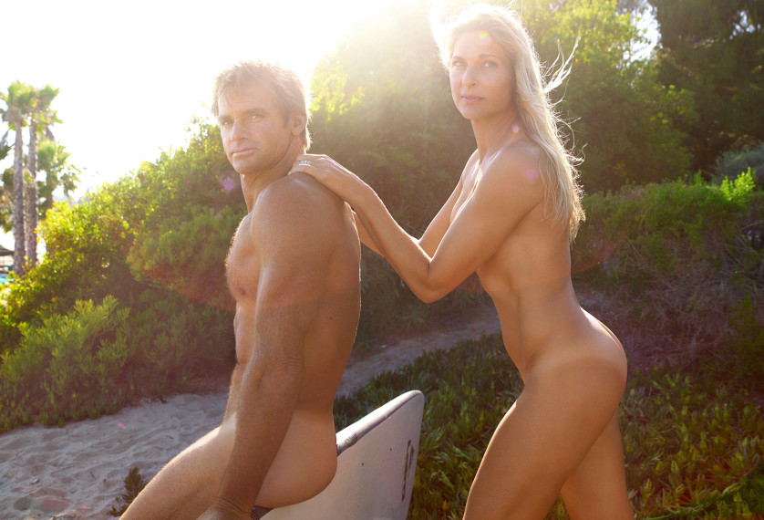 Gabrielle Reece & Laird Hamilton - Joueuse de Beach Volley et Surfer - USA Photo : ESPN The Magazine