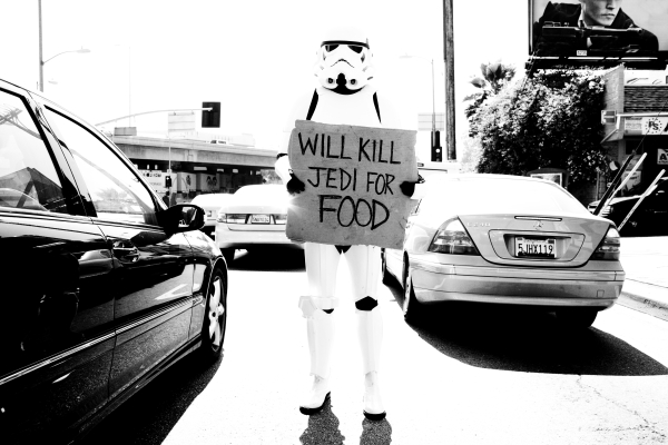 Will kill jedi for food Photo : Tyler Shields