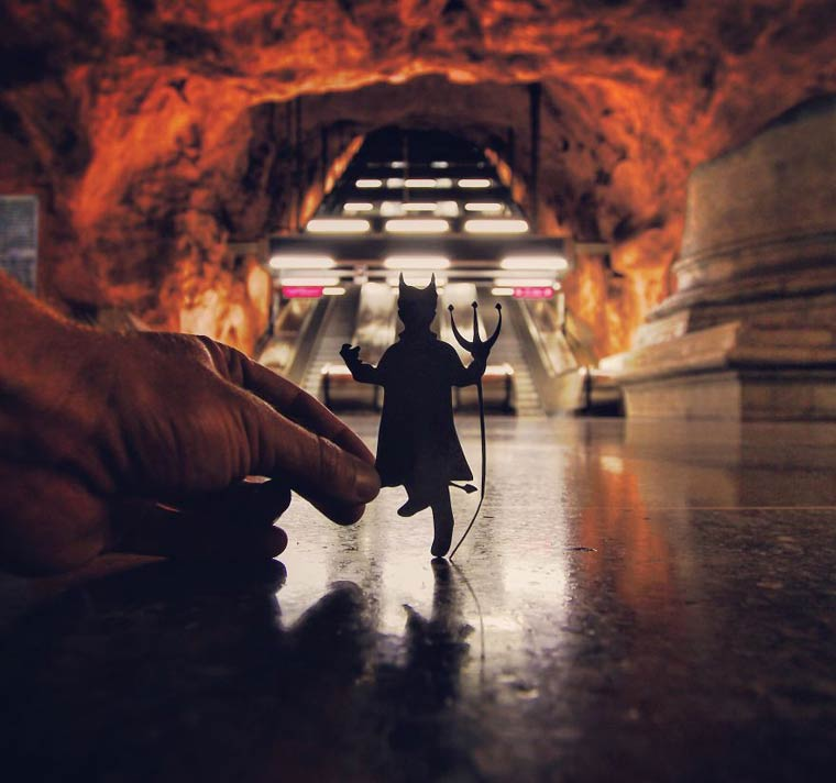 Station de metro Rådhuset, Stockholm (2015) Photo : @Paperboyo