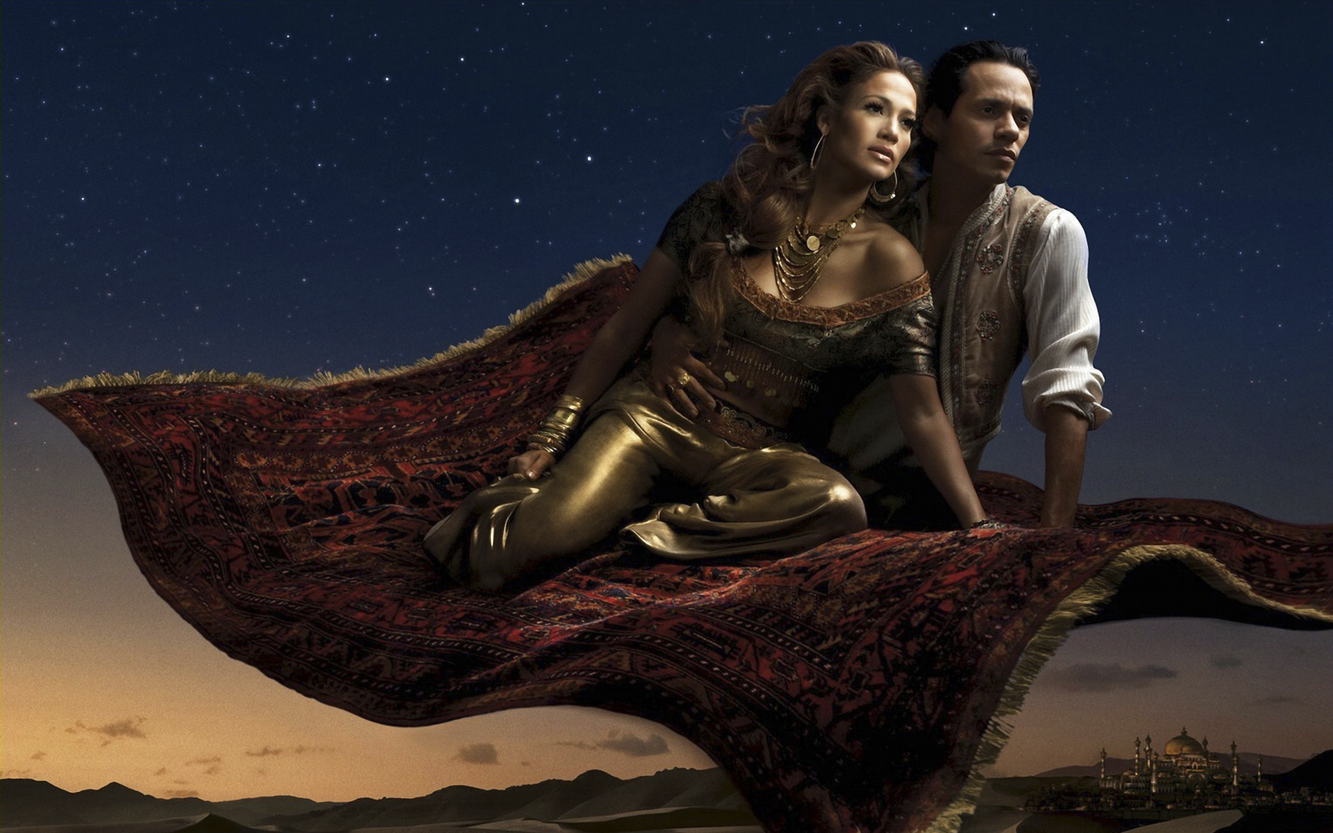 jennifer lopez et marc anthony as jasmine et aladin