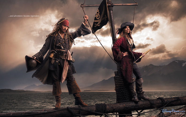 johnny depp et patti smith pour pirates des caraibes