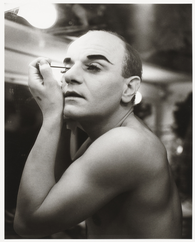 Peter Hujar - Charles Ludlam backstage at Gallas Ridiculous Theater