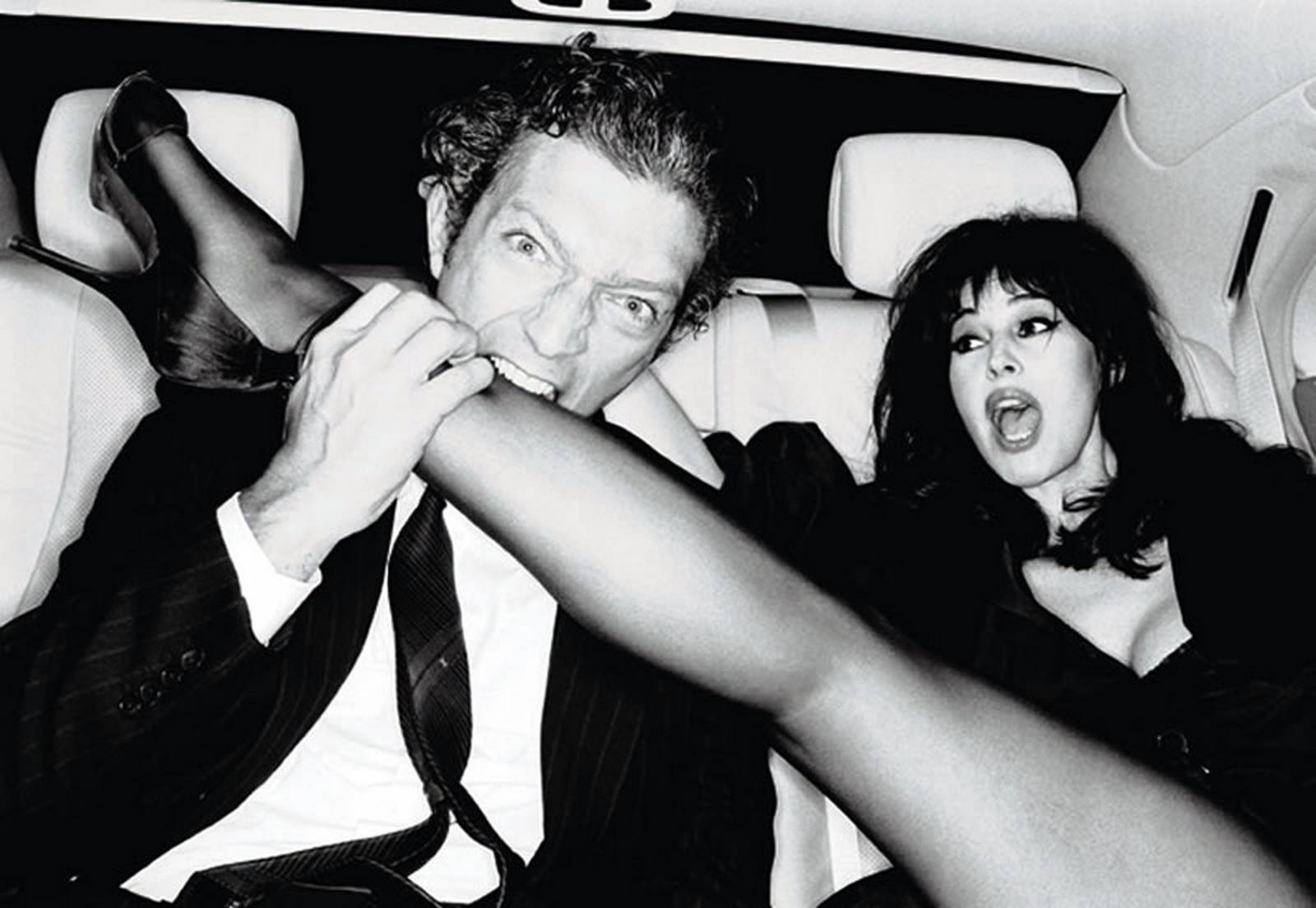 Photo : Ellen Von Unwerth Vincent Cassel et Monica Bellucci