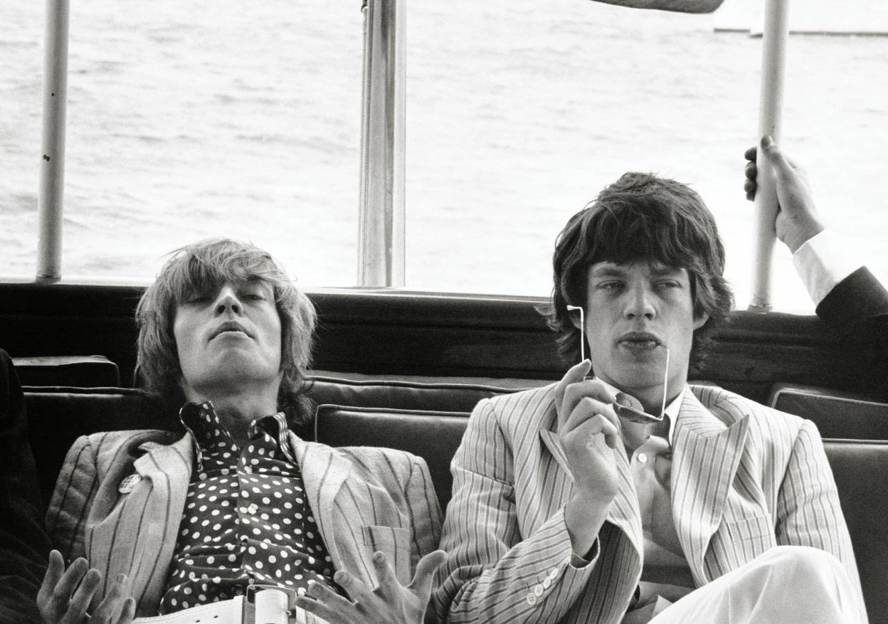 Photo : Linda McCartney Mike Jagger Rolling Stones