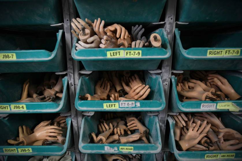 Mannequins hands stored in a drawers at the Goldsmith factory in New York, Sept. 4, 2007. (AP Photo/Oded Balilty)