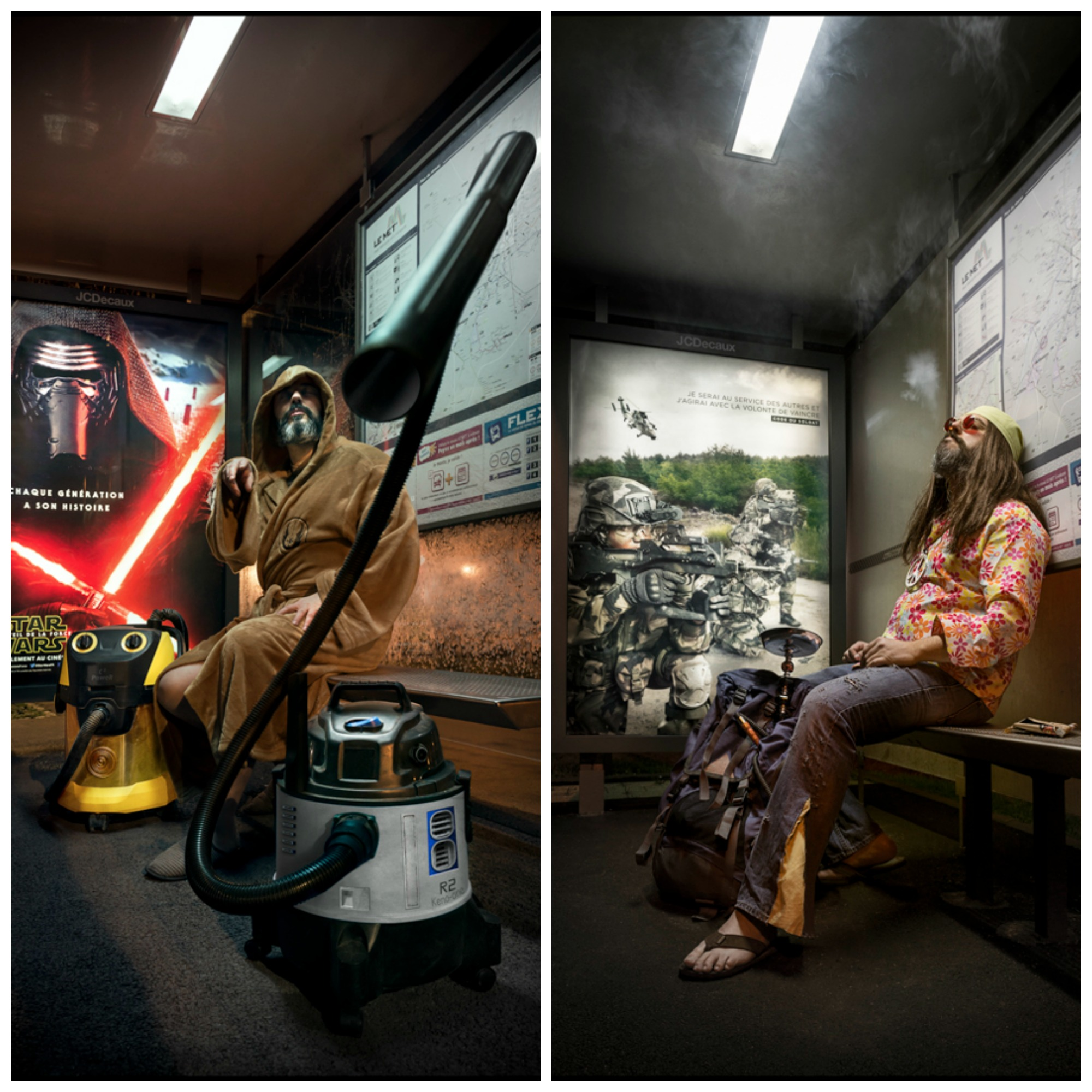 Photo : Jean-Yves Remy Star Wars - Peace and love vs war