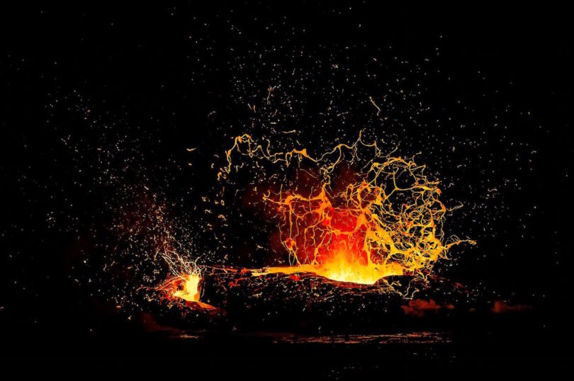 Lava flowing from Kilauea in Hawaii, one of the most active volcanoes in the world (Photo Alexandre Hec)
