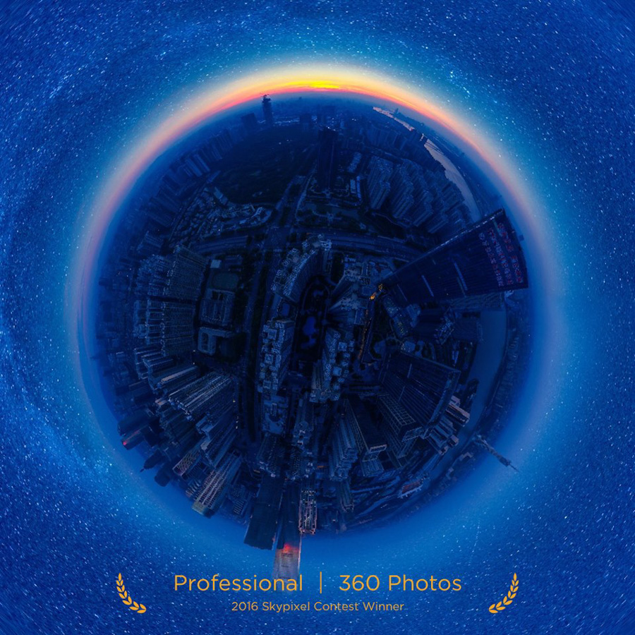 "SkyPixel Photo Contest 2016 Catégorie Professional 360° Photo 1er prix / 陈靖文 ""The Starry Night"""
