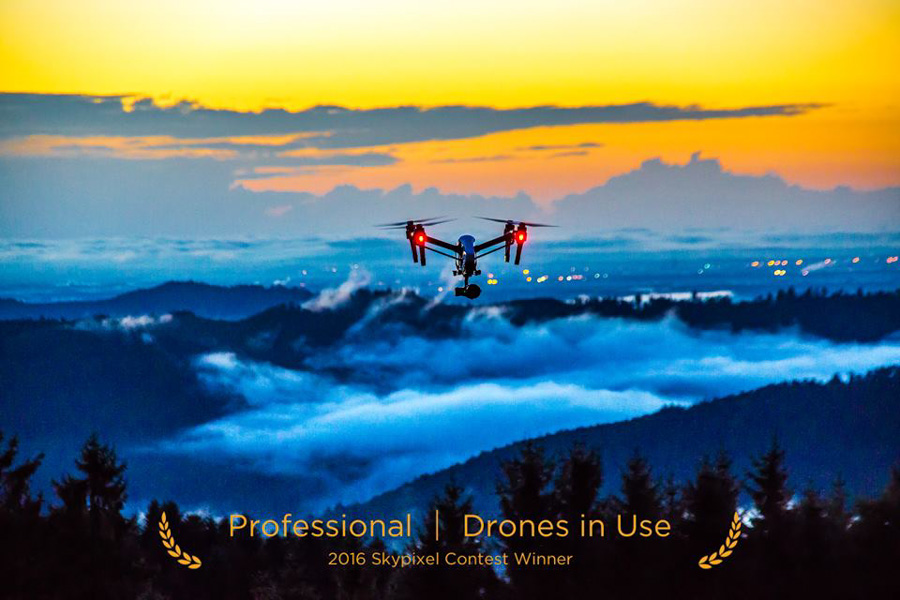 "SkyPixel Photo Contest 2016 Catégorie Professional Drones In Use 3ème prix / Norman Nollau ""Drone in use"""