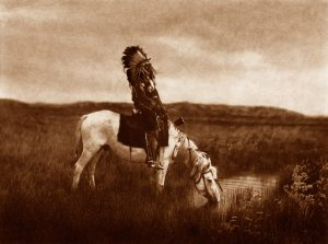 Edward Curtis - An Oasis in the Badlands - Sioux, 1905