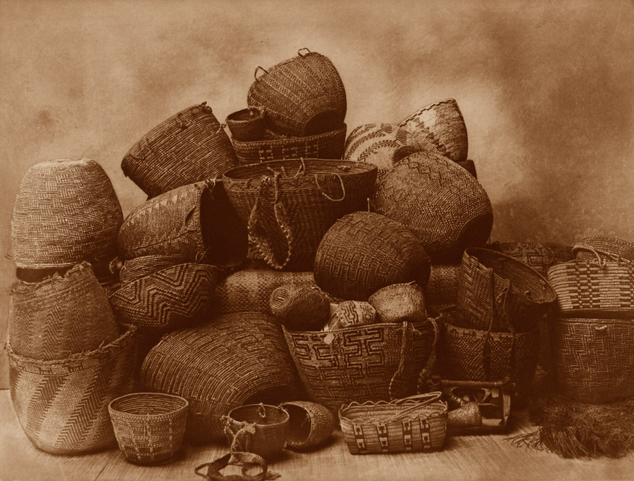 Edward Curtis - Puget Sound Baskets 1912
