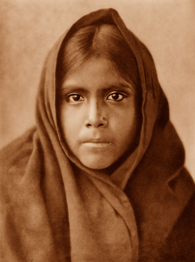 Edward Curtis - Qahatika Girl, 1907