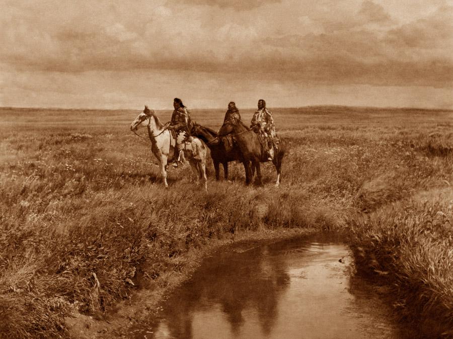 Edward Curtis - The Three Chiefs - Piegan, 1900