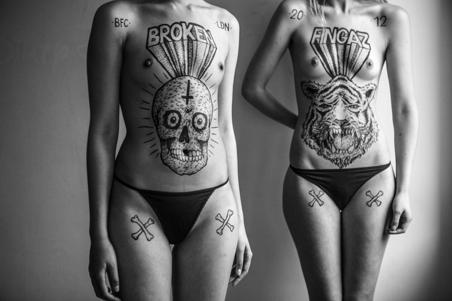 Photo - Ben Hopper, The Illustrated, Kei and Lucinda en collaboration avec Broken Fingaz, encre sur peau