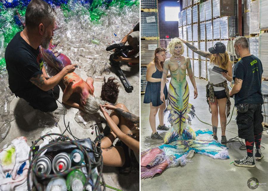 Benjamin Von Wong - Mermaids hate plastic - Backstage - Making of-6