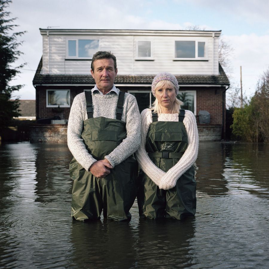 Jeff and Tracey Waters Staines-upon-Thames Surrey UK February 2014 DROWNING WORLD-Submerged-Portraits
