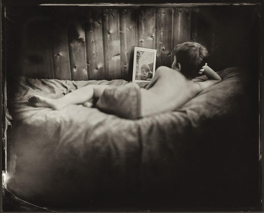 Jacqueline Roberts Nebula enfants avec le procédé du collodion humide