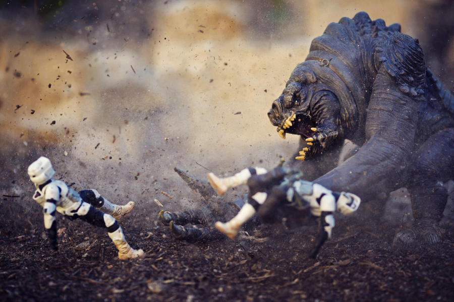 Photo - Mitchel Wu, Star Wars Rancor & Stormtroopers (Star Wars)