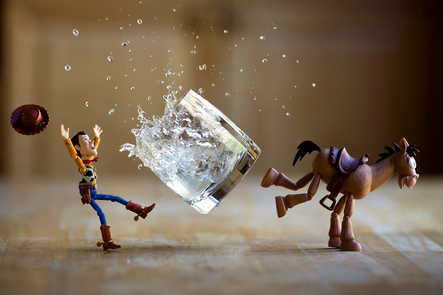 Photo - Mitchel Wu, Woody et Pile-Poil (Toy Story